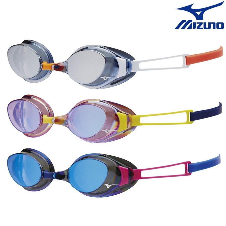 スイミングゴーグル 競泳 レーシング FINA承認 ミラーゴーグル N3JE4030 ゴーグル ミズノ 返品不可 爆買い新作 ノンクッション アクセルアイエス