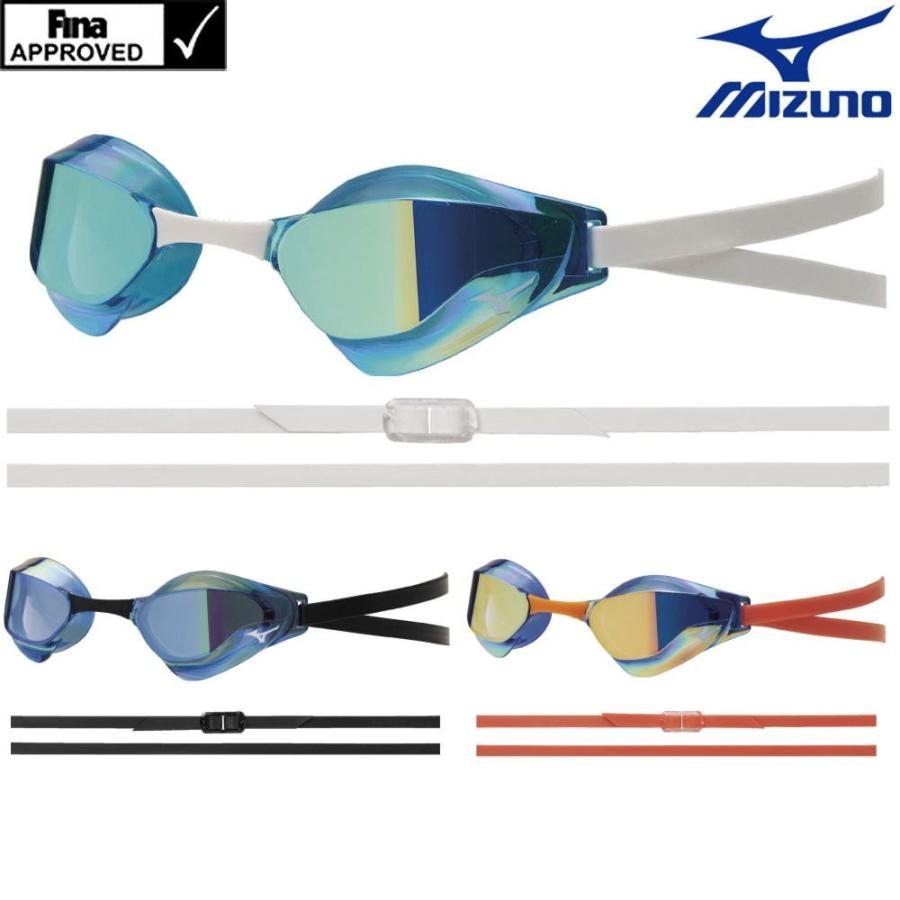 スイミング 競泳 レーシング ミズノ 日本最大級の品揃え 超定番 MIZUNO GX SONIC ミラーゴーグル N3JE9001 FINA承認 EYE J ノンクッション