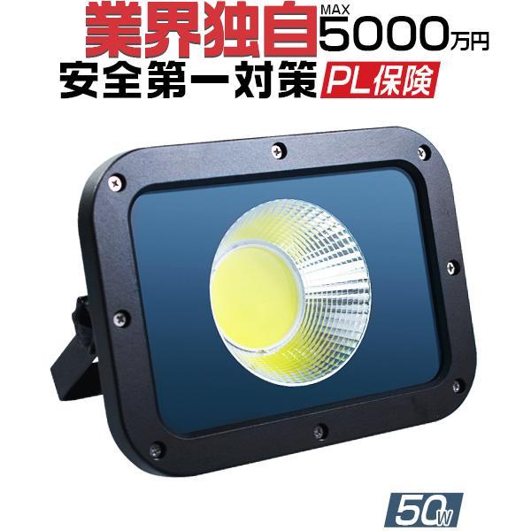 LED投光器 予約販売 50W 新型KTシリーズ led作業灯 10750lm 2倍明るさ保証 業界独自安全第一対策 受注生産品 3mコード 昼光色 PSE 1個YHW-I PL 屋外用 アース付きプラグ 1年保証
