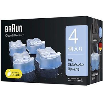 ブラウン クリーンamp;リニュー用洗浄液カートリッジ 4個入 毎日激安特売で 営業中です CCR4CR 公式ショップ