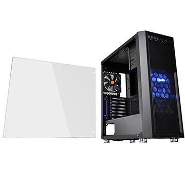 Thermaltake PCケース Versa H26 w casefan CA-1J5-00M1WN-01 新色 Black お買い得品