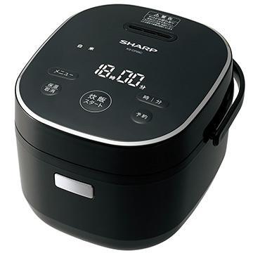 セットアップ SHARP マイコン炊飯器 黒厚釜 定番スタイル 3合炊き KS-CF05C-B ブラック系