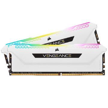 Corsair 内蔵メモリ VENGEANCE RGB PRO SL 16GB 2020 新作 2x8GB DDR4 Memory C16 White CMH16GX4M2E3200C16W Desktop 無料サンプルOK 3200 PC4-25600 -