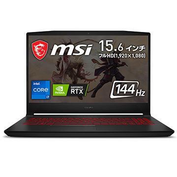 MSI 購入 ゲーミングノートPC Katana 記念日 GF66 15.6インチ SSD512GB Katana-GF66-11UD-480JP 16GB Corei7