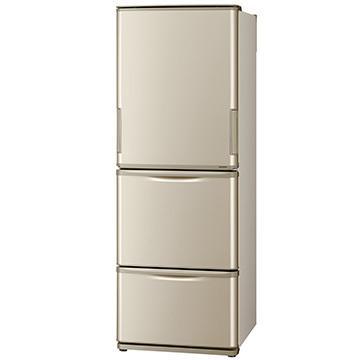 SHARP どっちもドア 3ドア冷蔵庫 350L SJ-W353G-N 卓越 ゴールド系 設置工事可 大型商品 在庫一掃