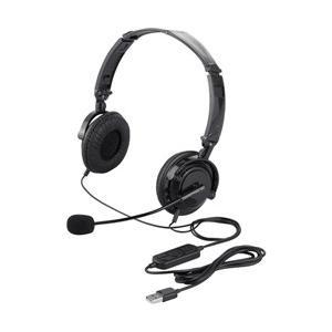 超美品再入荷品質至上 BUFFALO 注文後の変更キャンセル返品 両耳ヘッドセット USB接続 折りたたみ BSHSUH13BK ブラック