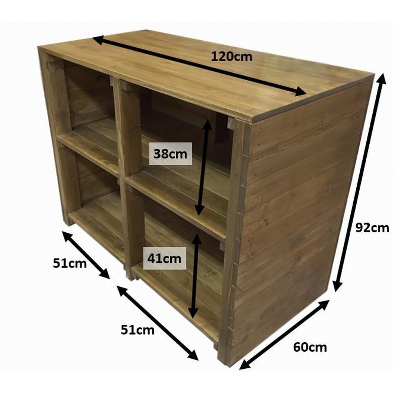 木製レジカウンター・受付カウンター_幅120cm×奥行60cm×高さ92cm_オーク+ニス_C004OK|hikariya-netshop|11