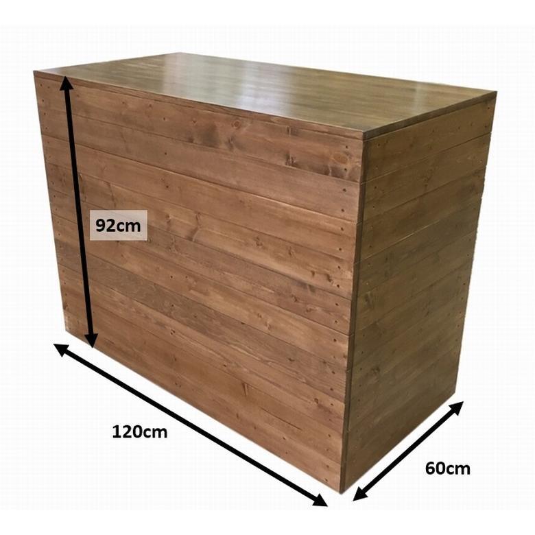 木製レジカウンター・受付カウンター_幅120cm×奥行60cm×高さ92cm_オーク+ニス_C004OK|hikariya-netshop|10