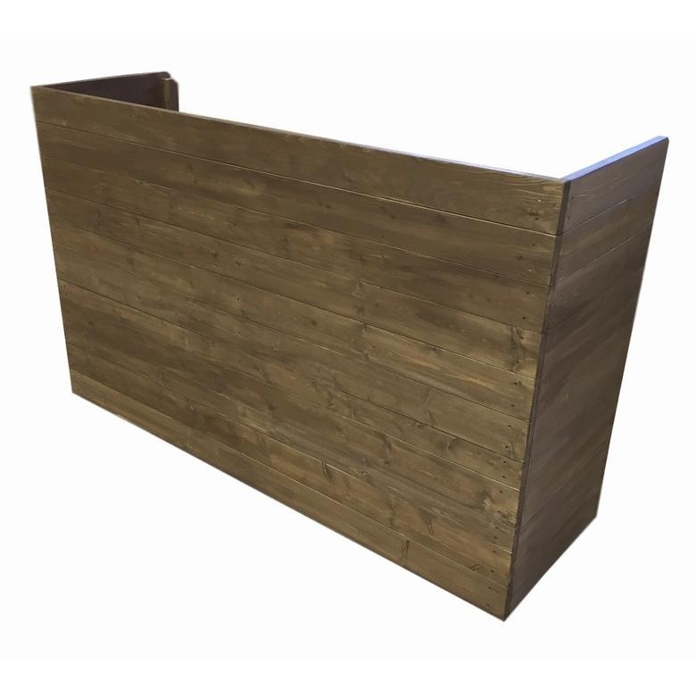 木製レジカウンター・受付カウンター_幅150cm×奥行47cm×高さ93cm_オールナット_C007WN|hikariya-netshop