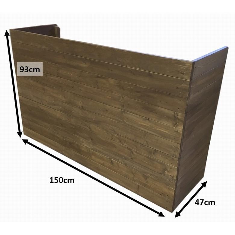 木製レジカウンター・受付カウンター_幅150cm×奥行47cm×高さ93cm_オールナット_C007WN|hikariya-netshop|07