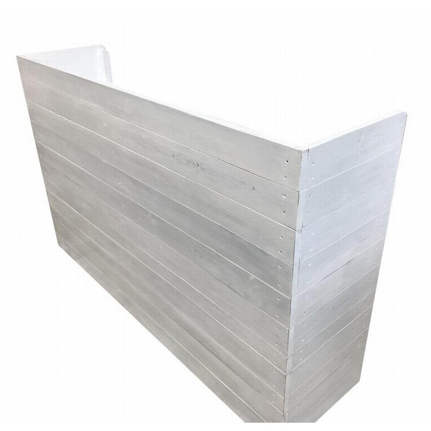 木製レジカウンター・受付カウンター_幅150cm×奥行40cm×高さ93cm_アンティークホワイト_C013AWH hikariya-netshop 02