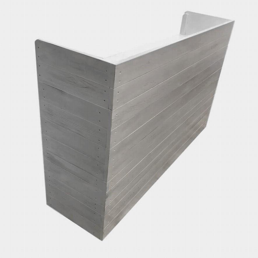 木製レジカウンター・受付カウンター_幅150cm×奥行40cm×高さ93cm_アンティークホワイト_C013AWH hikariya-netshop 03