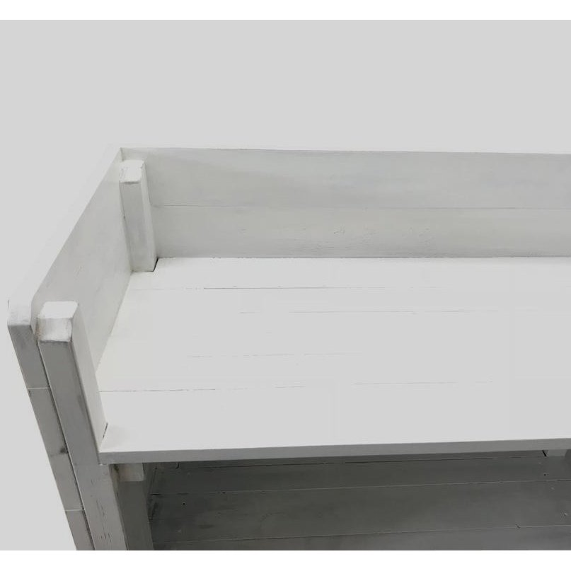 木製レジカウンター・受付カウンター_幅150cm×奥行40cm×高さ93cm_アンティークホワイト_C013AWH hikariya-netshop 06