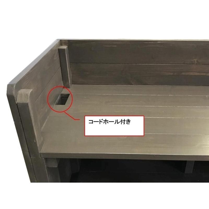 木製レジカウンター・受付カウンター_幅150cm×奥行40cm×高さ93cm_アンティークホワイト_C013AWH hikariya-netshop 09