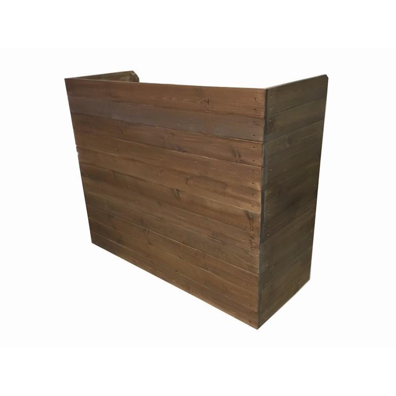 木製レジカウンター・受付カウンター・作業台_幅120cm×奥行49cm×高さ100cm_オールナット_UN832WN|hikariya-netshop|02