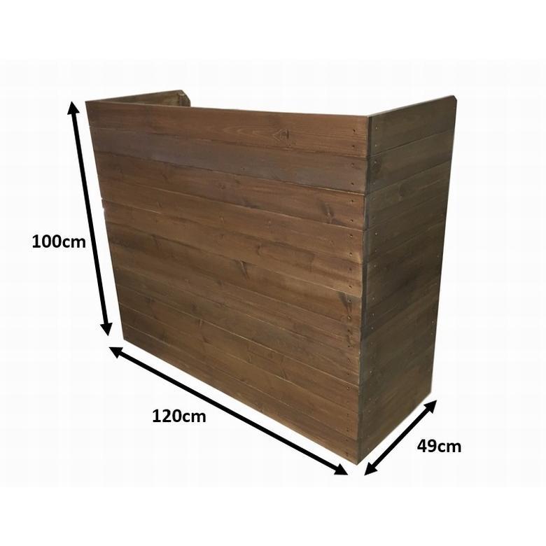 木製レジカウンター・受付カウンター・作業台_幅120cm×奥行49cm×高さ100cm_オールナット_UN832WN|hikariya-netshop|09