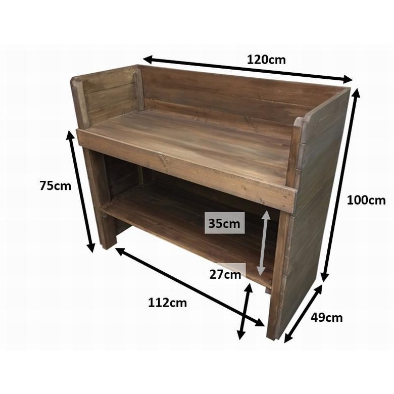 木製レジカウンター・受付カウンター・作業台_幅120cm×奥行49cm×高さ100cm_オールナット_UN832WN|hikariya-netshop|10