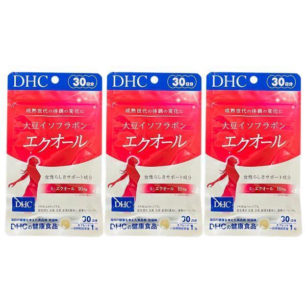 DHC 日本正規品 大豆イソフラボン 新作続 エクオール 30日分 3個