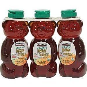 KIRKLAND カークランド Organic 激安特価品 Raw 大人気 Honey オーガニック 生ハチミツ 有機 生はちみつ 3本セット ローハニー680g コストコ