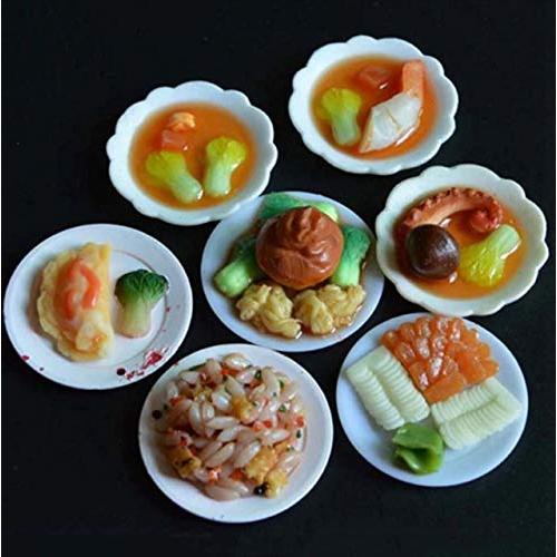 tomtask ドールハウス ミニチュア プラスチックプレート お皿セット 33点セット 1/12 スケール 白|hikazuco|03