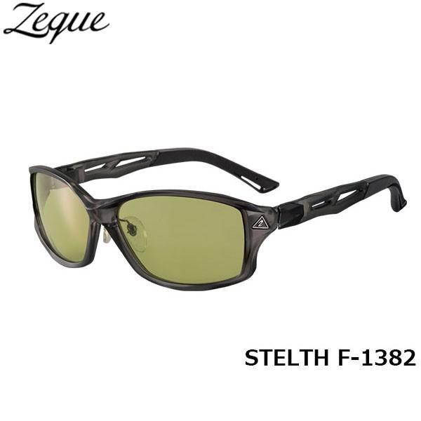 ジールオプティクス ZEAL OPTICS 偏光サングラス STELTH ステルス F-1382 クリアグレー イーズグリーン グレンフィールド GLE4580274165224