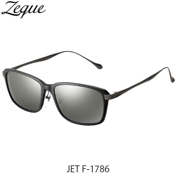 ジールオプティクス 偏光サングラス ジェット JET F-1786 ブラック&レッド×ガンメタル トゥルービューフォーカス×シルバーミラー 釣り GLE4580274167556