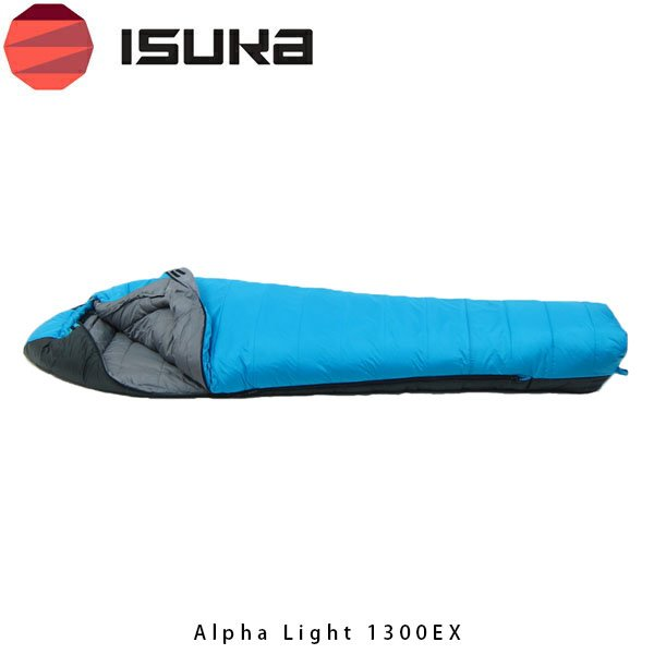ISUKA イスカ 寝袋 アルファライトモデル ALPHA LIGHT 1300EX アルファライト 1300EX 1258 ブルー ISU1258