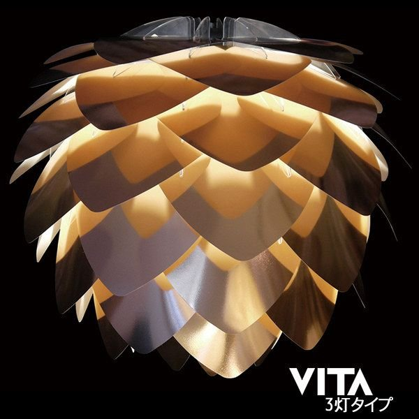 VITA(ヴィータ)SILVIA Copper Copper Copper シルヴィアコパー3灯タイプ (ペンダントライト) 7d3