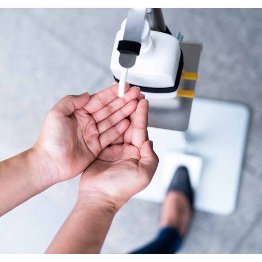 足踏み式 アルコール消毒液スタンドコロナウイルス等感染症予防対策オフィス飲食店向けエチケット商材非接触 kkkez|himalaya