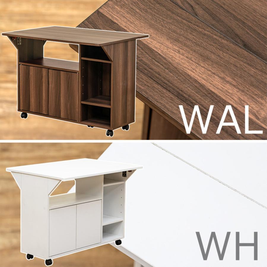 キャスター付き天板バタフライテーブル デスク キッチンワゴン カウンターテーブル ダイニングテーブル|himalaya|09