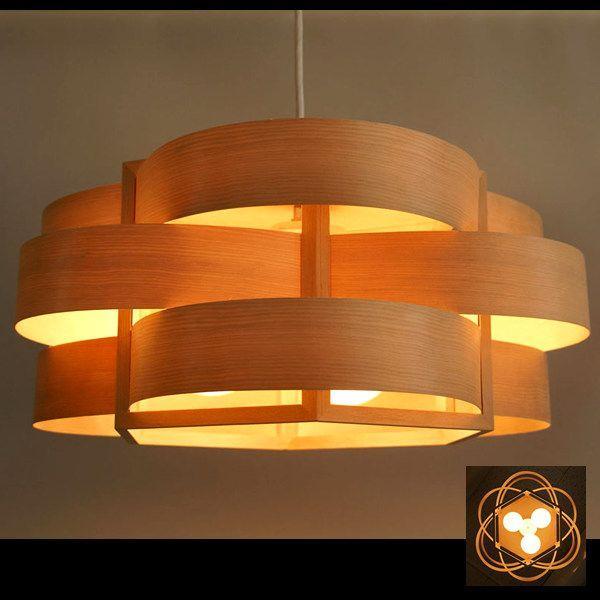 Flames木流(kiryuu) ウエーブ 木製曲木シェードインテリア照明|himalaya