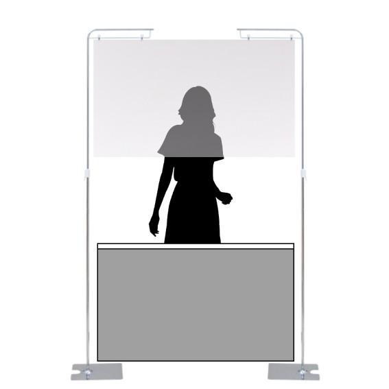 ウイルス飛沫感染防止透明塩ビカーテン自立フロアスタンド式床置き(高さ調節可能)高さ1340-2440mm吊り下げタイプ kkkez|himalaya|05
