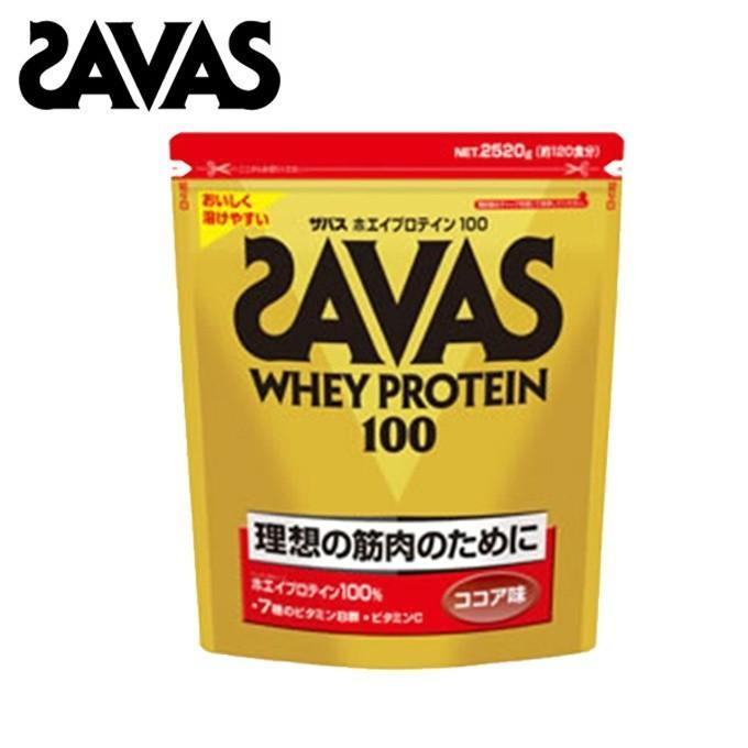 ザバス サプリメント ホエイプロテイン100 ココア味 2,520g CZ7429 SAVAS
