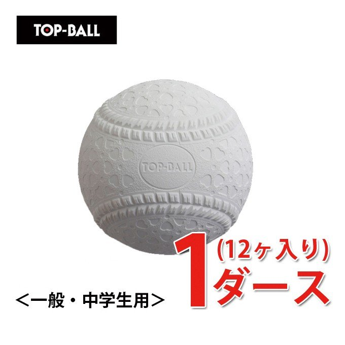 トップボール M号 ダース ( 12個 ) 試合球 検定球 公認球 軟式 野球 ボール 一般 中学生 TOPMHD12 bb