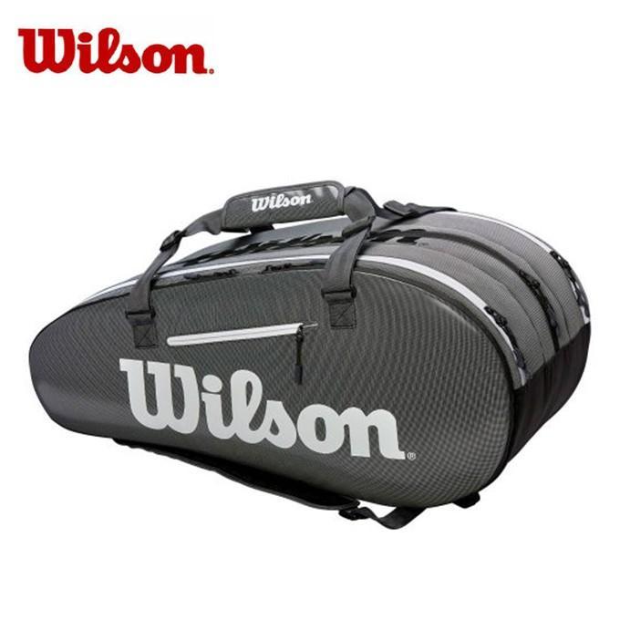 ウィルソン(Wilson) (ラケット15本収納可能) スーパーツアー3コンプ BKGY (SUPER TOUR 3 COMP) WRZ843915 ラケットバッグ リュック テニスバッグ