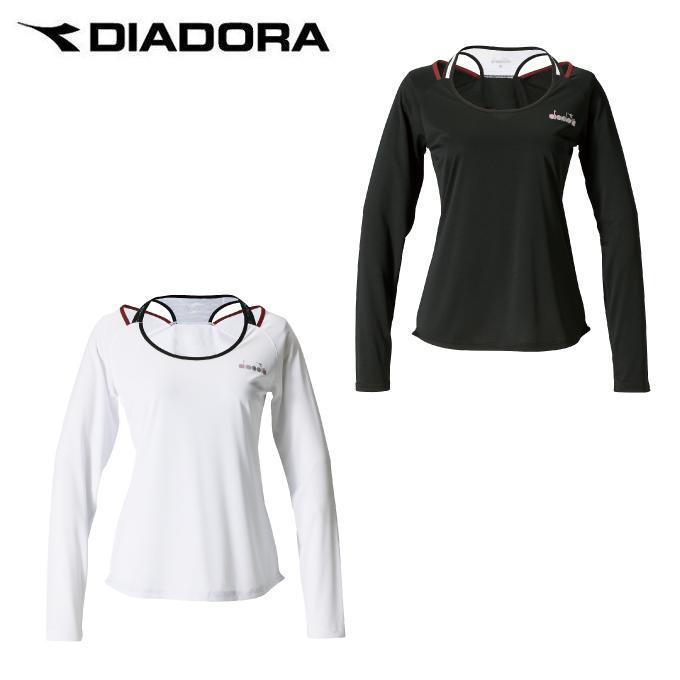 ディアドラ DIADORA テニスウェア Tシャツ 長袖 レディース ロングスリーブトップ DTP9591 rkt