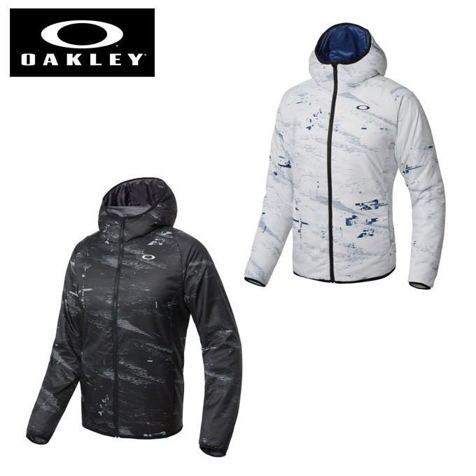 オークリー ウインドブレーカー ジャケット メンズ グラフィックフード中綿JKT Enhance Graphic Insulation Jacket 8.7 412593 OAKLEY sw