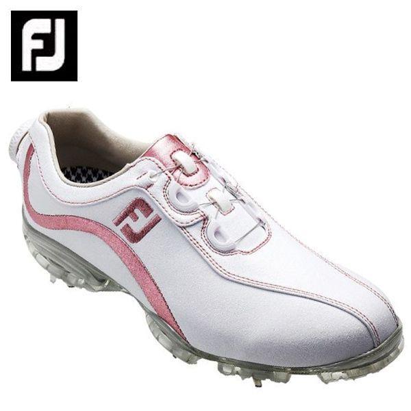 フットジョイ FootJoy ゴルフシューズ ソフトスパイク ゴルフスパイク レディース FJ ReelFit WH/PK 93833
