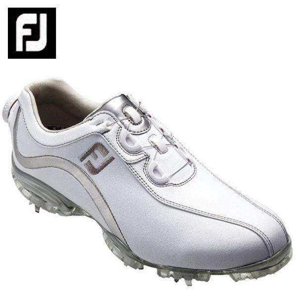 フットジョイ FootJoy ゴルフシューズ ソフトスパイク ゴルフスパイク レディース FJ ReelFit WH/SL 93809