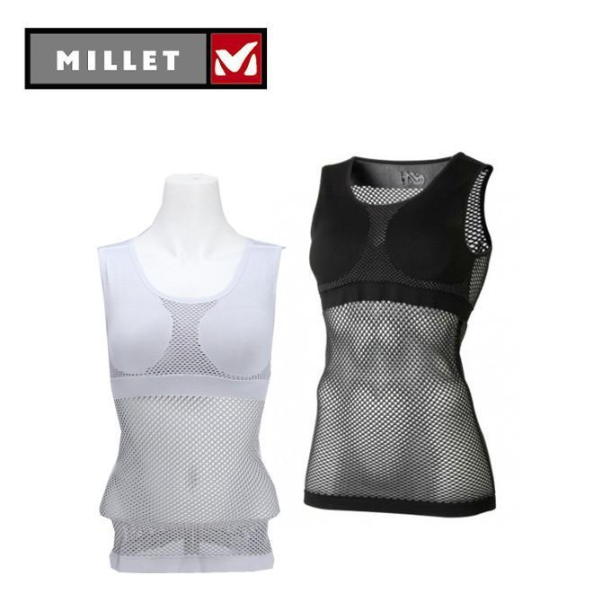 ミレー 新作入荷 セール品 MILLET アンダーシャツ ノースリーブ レディース MIV01278 タンクトップ メッシュ ドライナミック