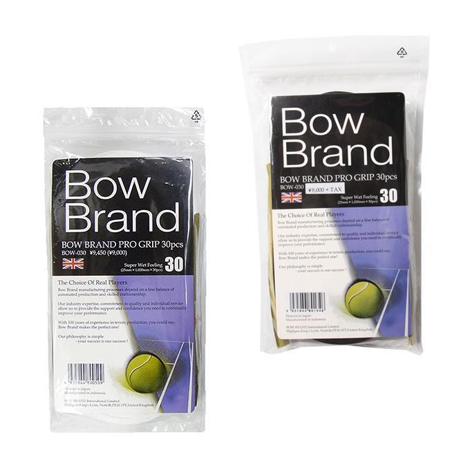 ボウ テニス 一部予約 ファクトリーアウトレット バドミントン グリップテープ ウェットタイプ BOW プログリップ 30本入り BOW030