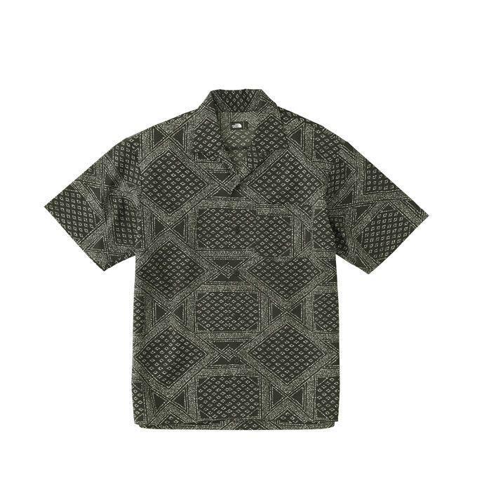 ノースフェイス 半袖シャツ メンズ ショートスリーブドットエアーシャツ Dot Air Shirt NR21805 THE NORTH FACE アウトドアシャツ
