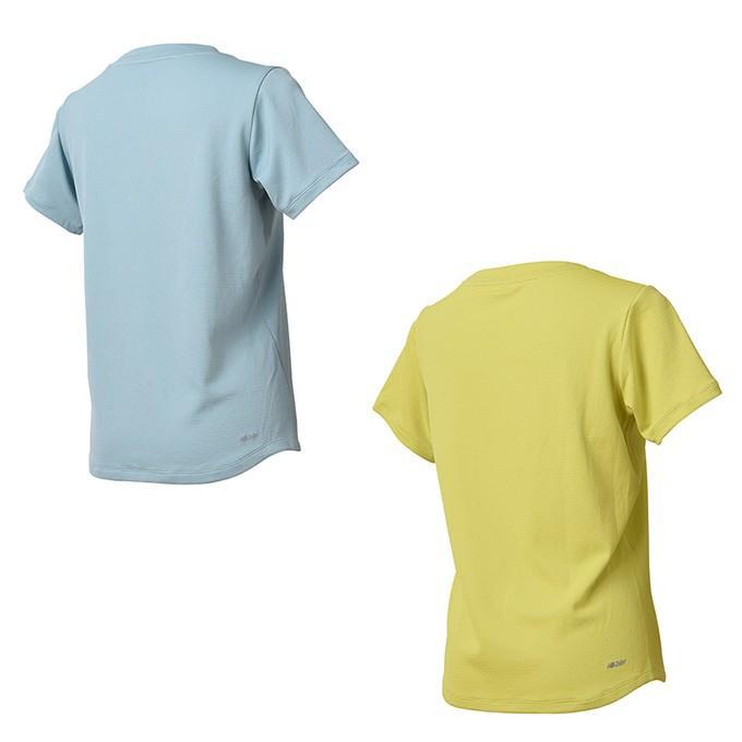 03b6c28e6acfa ニューバランス Tシャツ 半袖 レディース ダブルニットトレーニング ...