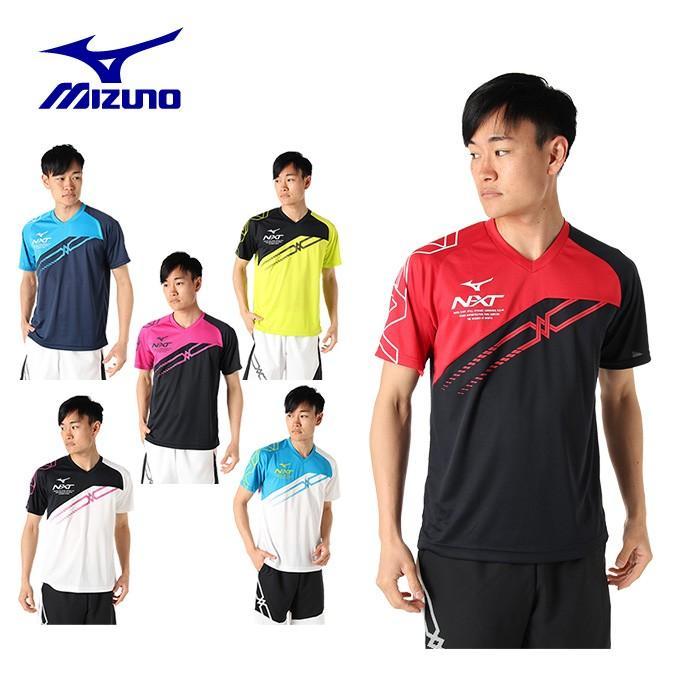 ミズノ テニスウェア バドミントンウェア Tシャツ 半袖 ハイクオリティ プラクティス メンズ 62JA9Z18 MIZUNO 国内送料無料