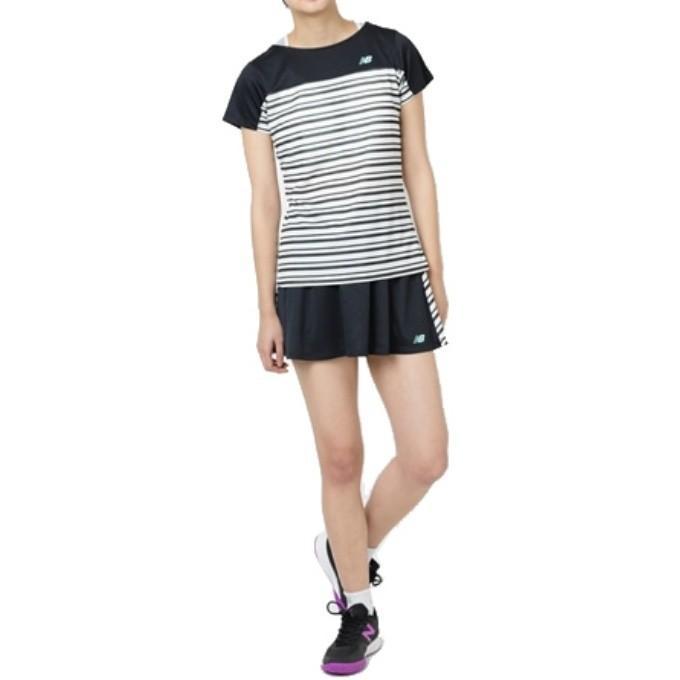 f969dbaad89c3 ニューバランス テニスウェア Tシャツ 半袖 レディース ボーダー ...
