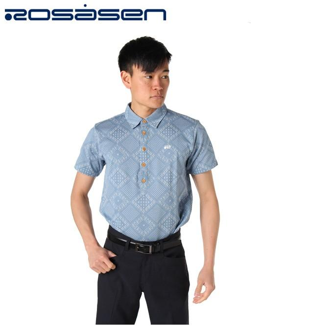 ロサーセン ROSASEN ゴルフウェア 半袖シャツ メンズ バンダナ風JQ 044-29244