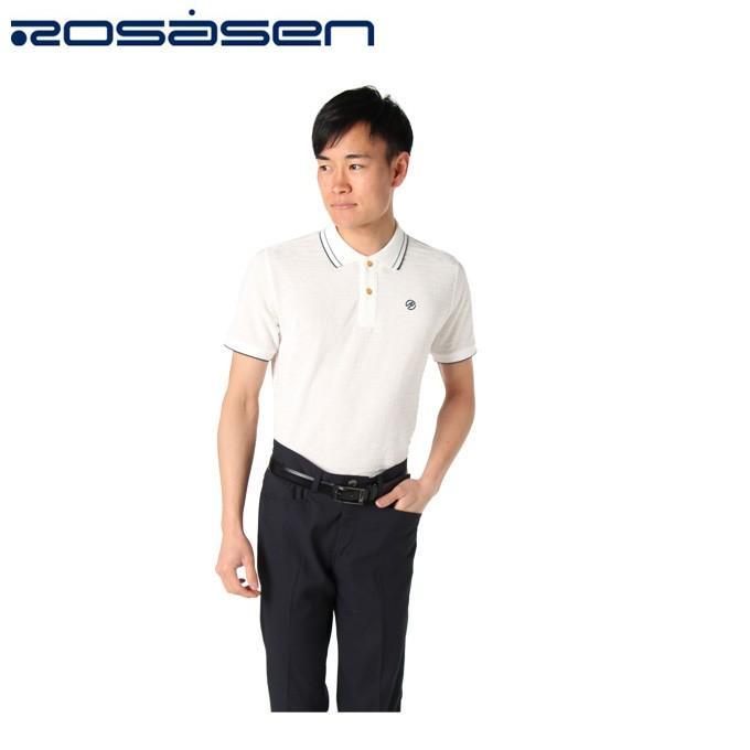 ロサーセン ROSASEN ゴルフウェア ポロシャツ 半袖 メンズ エステルリンクス 044-29341