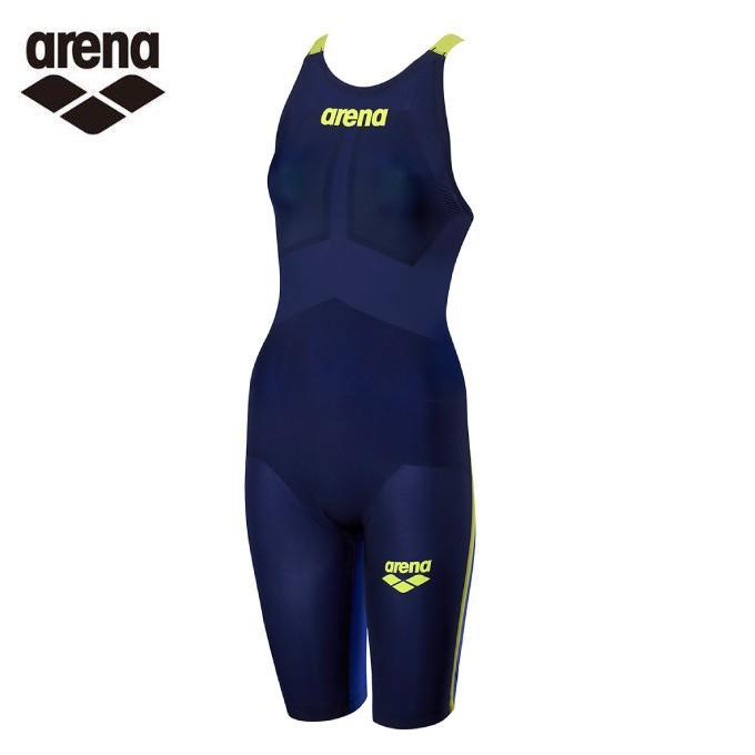 アリーナ arena FINA承認 競泳水着 レディース アルティメットアクアフォース ハーフスパッツフラットクロスバック ARN-9002W-NVBU