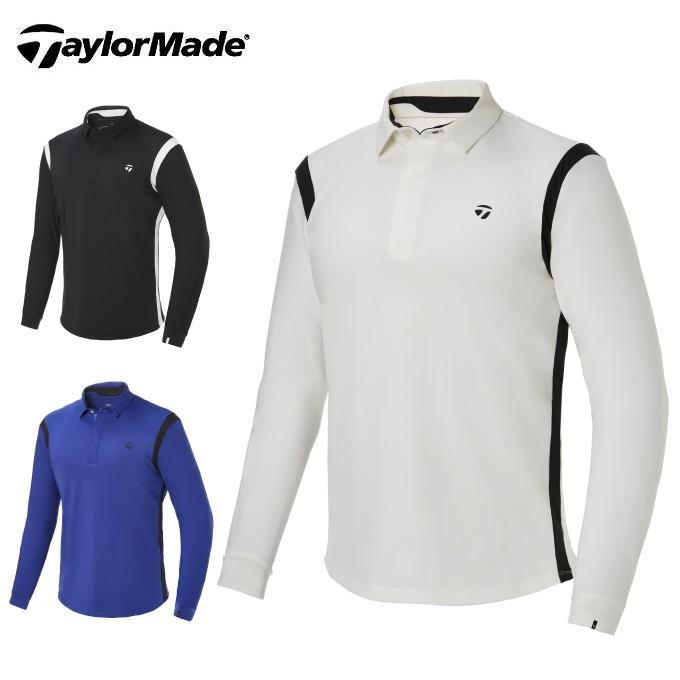 テーラーメイド TaylorMade ゴルフウェア ポロシャツ 長袖 メンズ コントラストライン長袖ポロ KY566