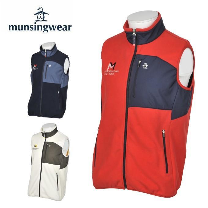 マンシング Munsingwear ゴルフウェア ベスト メンズ 胸ロゴフリースベスト MGMOJK55